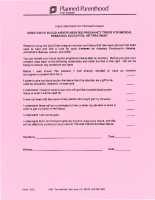 Planned Parenthood Fetal Tissue Donation Form